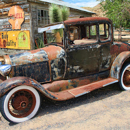 Rusty Truck Waiting by Fred Herring - Transportation Other