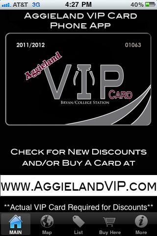 Aggie Land VIP Card