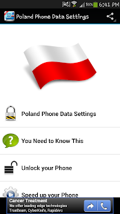 Poland Phone Data Settings - screenshot