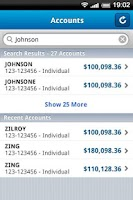 Screenshot of WealthCentral Mobile
