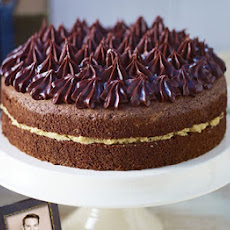 John Whaite's Chocolate chiffon cake with salted caramel butter cream