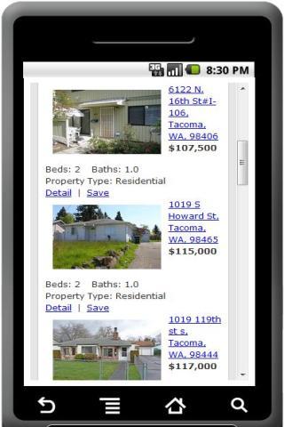 Tacoma Real Estate Home Search
