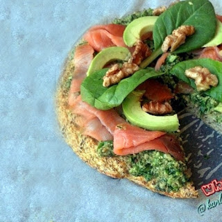 Smoked Salmon Pesto Paleo Pizza