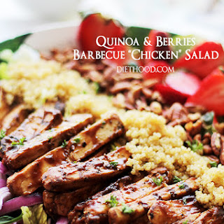 "Quinoa and Berries Barbecue ""Chicken"" Salad"