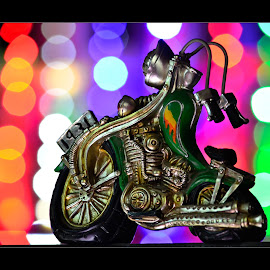 The Beast from 1931 by Vincent Albert - Artistic Objects Antiques ( lights, showpiece, bike, motorbike, toy, colorful, motorcycle, creativince, bokeh, antique, , color, colors, landscape, portrait, object, filter forge )