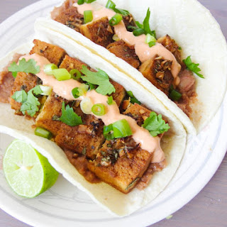 Baked Tequila Lime Tofu Tacos with Chipotle Crema