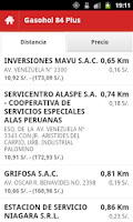 Screenshot of Precio Combustibles Perú