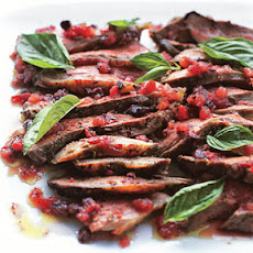 Grilled Butterflied Leg of Lamb with Tomato-Fennel Vinaigrette
