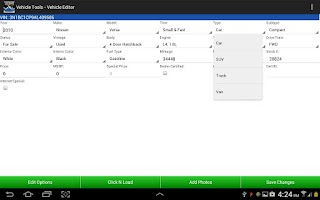 Screenshot of VehicleTools VIN Decoder