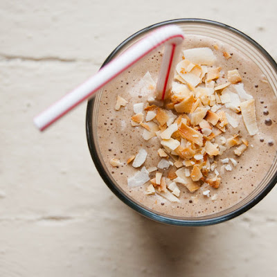 Coffee, Banana, and Hazelnut Morning Shake