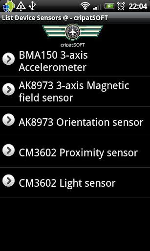 List device sensors
