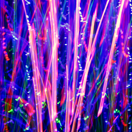 Spring growth by Jim Barton - Abstract Patterns ( laser light, colorful, light design, spring growth, laser design, laser, laser light show, spring, light, reeds, science )