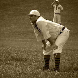 Old Time Baseball by Val Petrolay - Sports & Fitness Baseball ( arch, vintage, baseball, sports, st. louis )