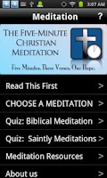 Screenshot of 5-Minute Christian Meditation