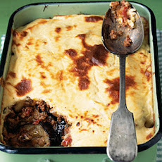 Lamb Moussaka With Feta Topping Recipe