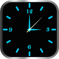 App Glowing Clock Locker (blue) apk for kindle fire