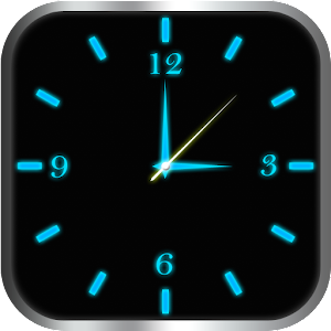 Glowing Clock Locker (blue)