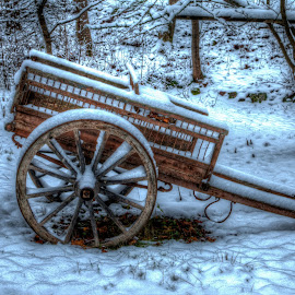 by Bojan Bilas - Artistic Objects Other Objects ( carriage, snow, twilight, artistic, finland, long exposure )