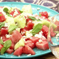 Watermelon, Feta and Mint Skewers with Sumac