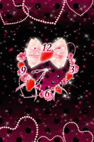 Sparkling Pink clockWidget