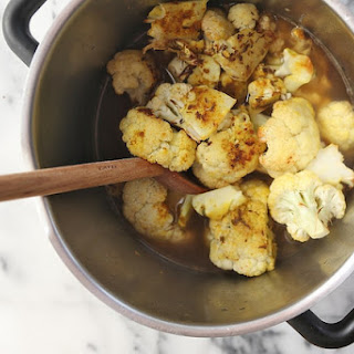 Roasted Cauliflower Soup with Cumin