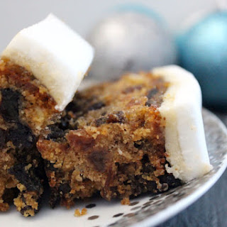Gluten free and dairy free Christmas cake