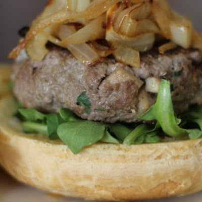 Apple and Arugula Bison Burgers