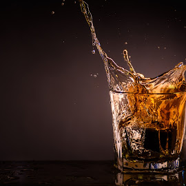 Splash of Whiskey by Stefan Roberts - Food & Drink Alcohol & Drinks ( bourbon, splash, whiskey, alcohol, bar, maker's mark )