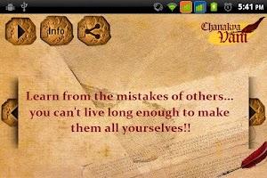 Screenshot of Chanakya Vani
