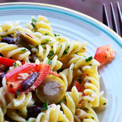 Pasta Salad with Salmon and Beans