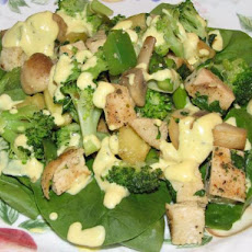 Chicken Caesar Mustard on Spinach