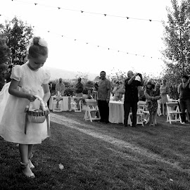 Flower Girl by Shawn Taylor - Wedding Other ( child, amazing, girl, black and white, wedding, best, ceremony, cute, photo, flower, photography )
