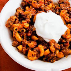 Better-than-Mom's Stovetop Goulash Recipe with Macaroni, Tomatoes, and Ground Beef