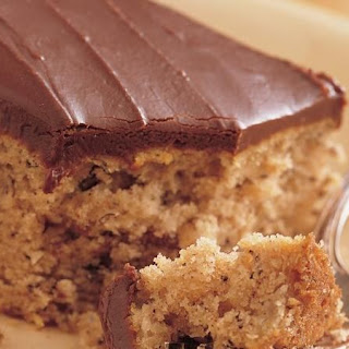 Banana Cake with Fudge Frosting