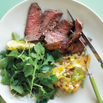 Skirt Steak with Pan-Fried Polenta