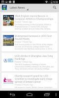 Screenshot of UCD Mobile