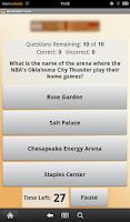Screenshot of Basketball Trivia