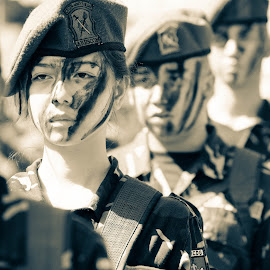 Young Defender by Paul Steven Cue - People Street & Candids ( soldiers, candid, youth, women, people )