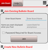Screenshot of Group Bulletin Board