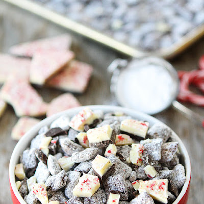 Peppermint Bark Chocolate Chex Mix