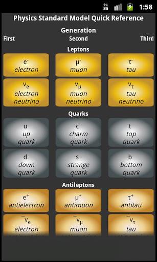 Physics Standard Model Quick