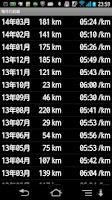 Screenshot of JogRecorder ジョギング・ランニング記録アプリ