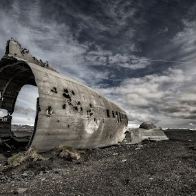 Different Lots by Bragi Ingibergsson - Artistic Objects Other Objects ( clouds, sand, old, iceland, sky, brin, bragi j. ingibergsson, wreck, airplane, abandoned )