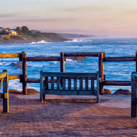 Relax by Derek Sass - Artistic Objects Furniture ( benches, wood, relax, sea, ocean, tranquility, furniture, surf )