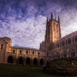 Bryn Athyn 2 by Wil Moore - Buildings & Architecture Places of Worship ( gothic, church, architecture, landscape, panorama )
