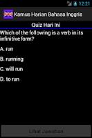 Screenshot of Kamus Harian Bahasa Inggris