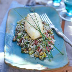 Baked Sheepshead on Hoppin' John