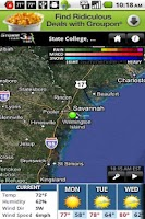 Screenshot of WSAV Weather