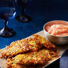 Parsnip-Potato Latkes With Cinnamon Applesauce