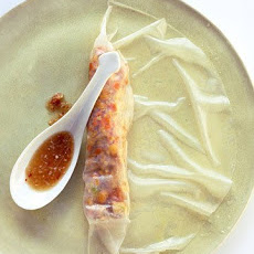 Crisp Orange-Chicken Spring Rolls